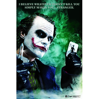 HungOver Dark Knight Joker Poster for Home and Office Poster  Without Frame Single Piece Size (12x9  Inches)