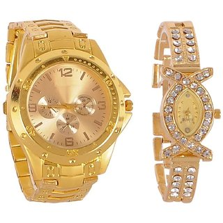 True Choice Golden Combo Analog Watch For Cupel