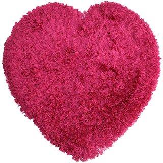 The Home Talk pink heart shaped mat