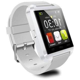 Jiyanshi Bluetooth Smart Watch with Apps like Facebook , Twitter , Whats app ,etc for HTC Desire 620G Dual Sim