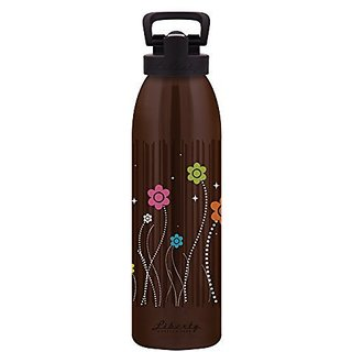Liberty Bottleworks Snozberries Sport Water Bottle, Chocolate, 24-Ounce