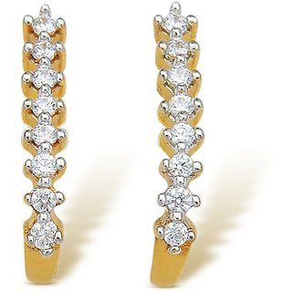 Kataria Jewellers 92.5 BIS Hallmarked Silver Earrings with Signity American Diamond