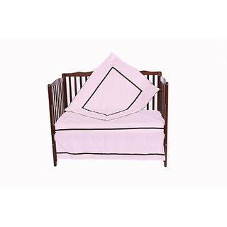 Baby Doll Bedding 4 Piece Crib Bedding Set, Pink
