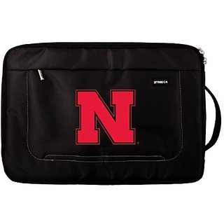 NCAA Nebraska-Omaha Mavericks Deluxe Nylon Laptop Sleeve for 15-Inch to 16-Inch Laptop or MacBook Pro