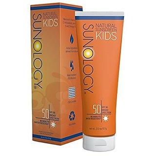 Sunology Natural Sunscreen for Kids SPF 50, Broad Spectrum, Zinc Oxide & Titanium Dioxide Active Ingredients, 2 Oz