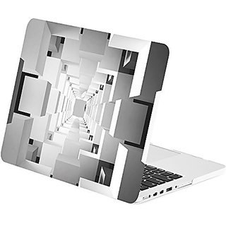 TOP CASE - Retina 13-Inch Geometric 3D Cubism Graphics Rubberized Hard Case Cover for Macbook Pro 13