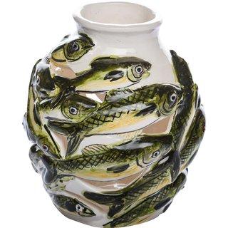 Marcou Artifacts Ceramic FISH VASE Showpiece