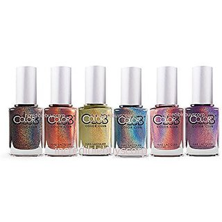 Color Club Hues Holographic 6 Pcs Full Collection 2013
