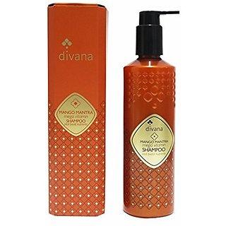 Divana Mango Mantra Mega Vitamin Shampoo 345 ML Medium Dark Orange