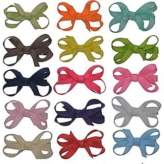 Xuanli Baby Children GIrls Toddlers Grosgrain Hair Bows Alliger Clip Accessories (Y006)