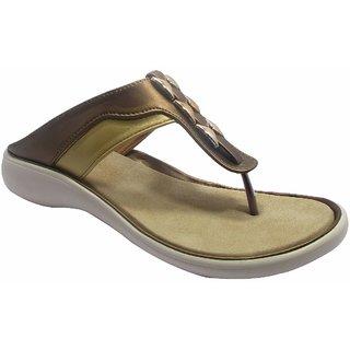 Sammy Women's Gold Slip on Sandals