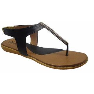 Sammy Women's Black Velcro Sandals