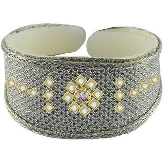 Vidhya kangan White Non Plated Bracelets  For Women