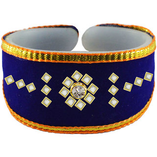 Vidhya kangan Blue Non Plated Bracelets  For Women