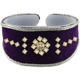 Vidhya kangan Purple Non Plated Bracelets  For Women