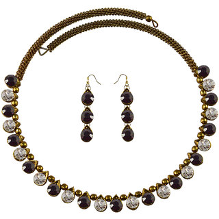 Vidhya Kangan Multicolor Necklace Set For Women-nec2100