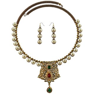 Vidhya Kangan Multicolor Necklace Set For Women-nec2369