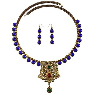 Vidhya Kangan Multicolor Necklace Set For Women-nec2370
