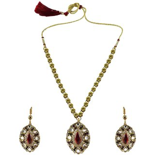 Vidhya Kangan Multicolor Necklace Set For Women-nec926