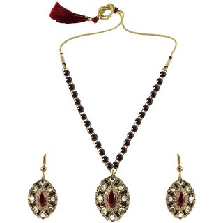 Vidhya Kangan Multicolor Necklace Set For Women-nec927
