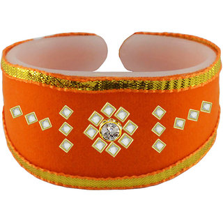 Vidhya kangan Orange Non Plated Bracelets  For Women