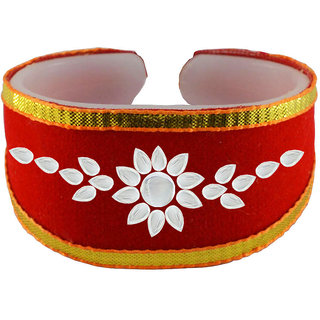 Vidhya kangan Red Non Plated Bracelets  For Women