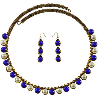 Vidhya Kangan Multicolor Necklace Set For Women-nec2116