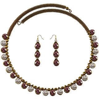 Vidhya Kangan Multicolor Necklace Set For Women-nec2119
