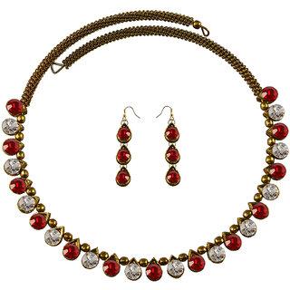 Vidhya Kangan Multicolor Necklace Set For Women-nec2123