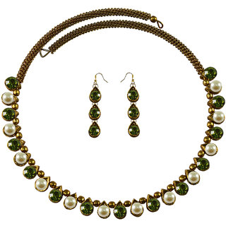 Vidhya Kangan Multicolor Necklace Set For Women-nec2124