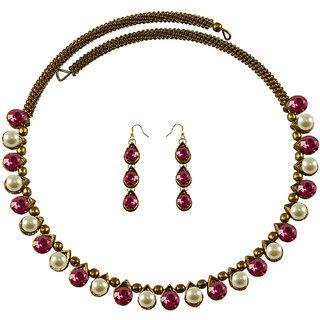 Vidhya Kangan Multicolor Necklace Set For Women-nec2126