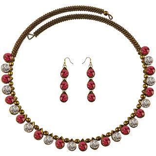 Vidhya Kangan Multicolor Necklace Set For Women-nec2129