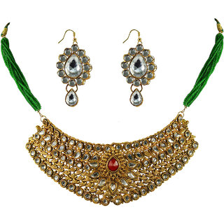 Vidhya Kangan Gold Necklace Set For Women-nec2155