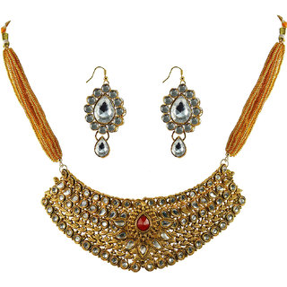 Vidhya Kangan Gold Necklace Set For Women-nec2157