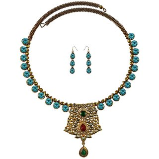 Vidhya Kangan Multicolor Necklace Set For Women-nec2377