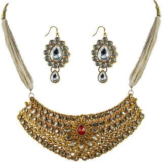 Vidhya Kangan Gold Necklace Set For Women-nec2158