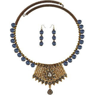 Vidhya Kangan Multicolor Necklace Set For Women-nec2393