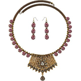 Vidhya Kangan Multicolor Necklace Set For Women-nec2397