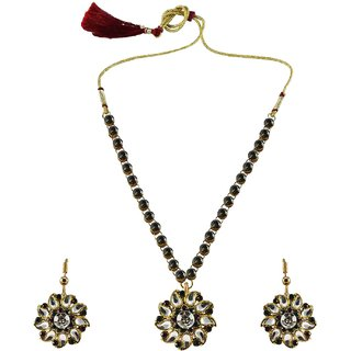 Vidhya Kangan Multicolor Necklace Set For Women-nec862