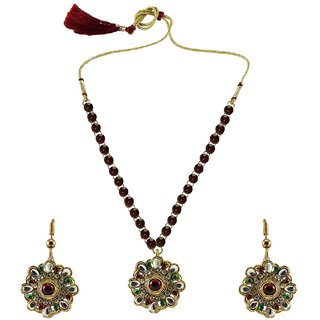 Vidhya Kangan Multicolor Necklace Set For Women-nec884