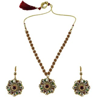 Vidhya Kangan Multicolor Necklace Set For Women-nec885