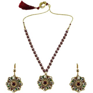 Vidhya Kangan Multicolor Necklace Set For Women-nec889