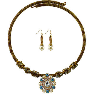Vidhya Kangan Gold Necklace Set For Women-nec1855