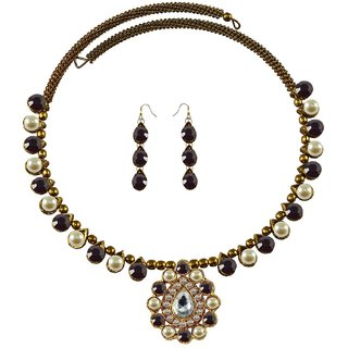 Vidhya Kangan Multicolor Necklace Set For Women-nec1922