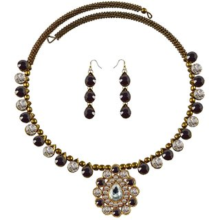 Vidhya Kangan Multicolor Necklace Set For Women-nec1923