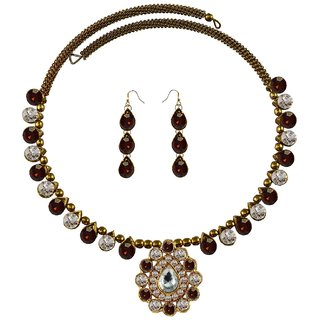 Vidhya Kangan Multicolor Necklace Set For Women-nec1933