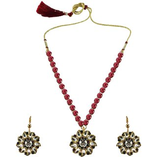 Vidhya Kangan Multicolor Necklace Set For Women-nec870