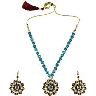 Vidhya Kangan Multicolor Necklace Set For Women-nec871