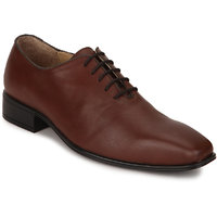 Escaro Men's Tan Lace-up Oxfords Shoe