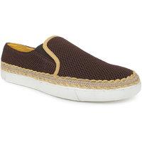 Escaro Men's Brown Slip On Sneakers Shoes